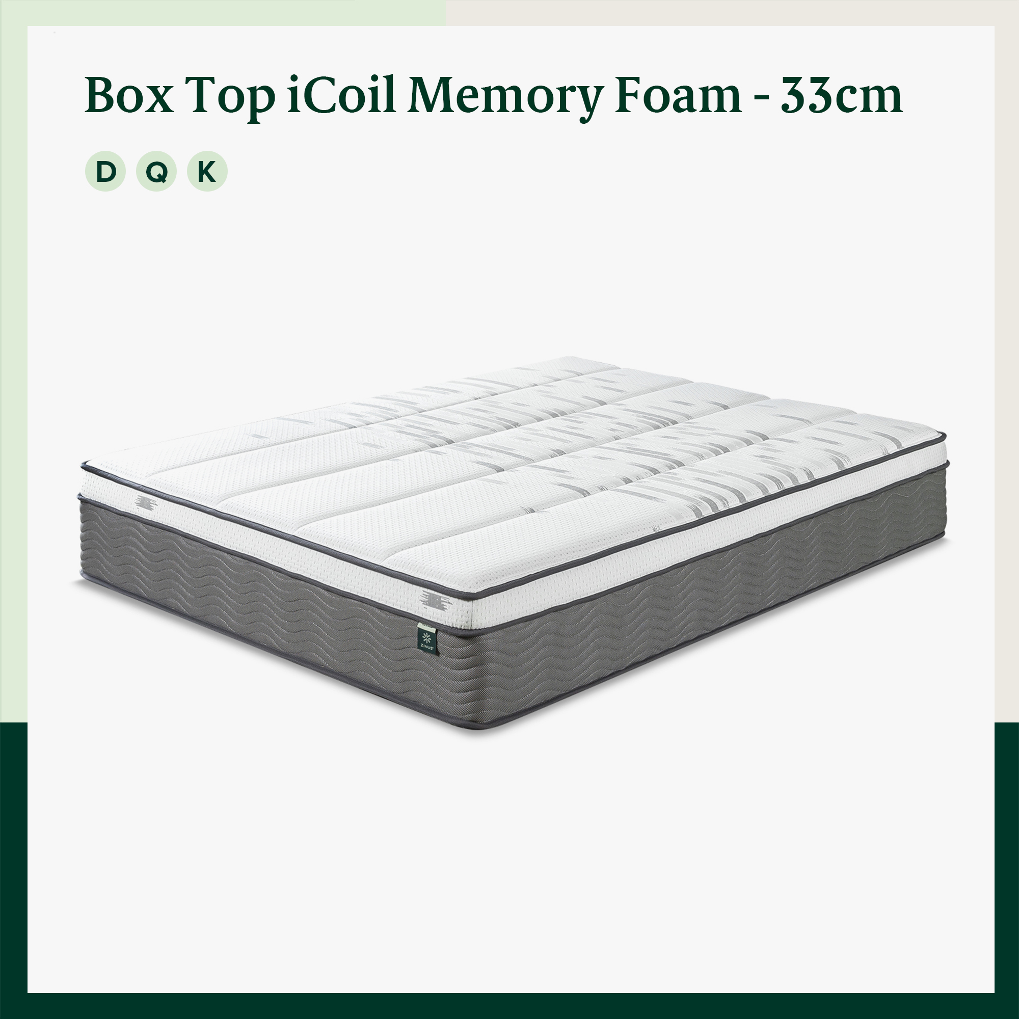 thumbnail 28 - Zinus Mattress Queen Double King Single Bed Memory Foam Pocket Spring Hybrid