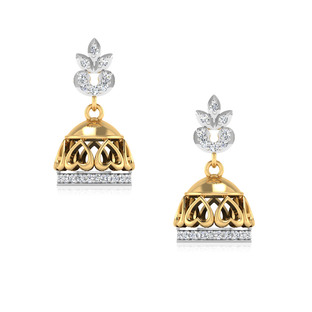 The Kasturi Diamond Jhumkas