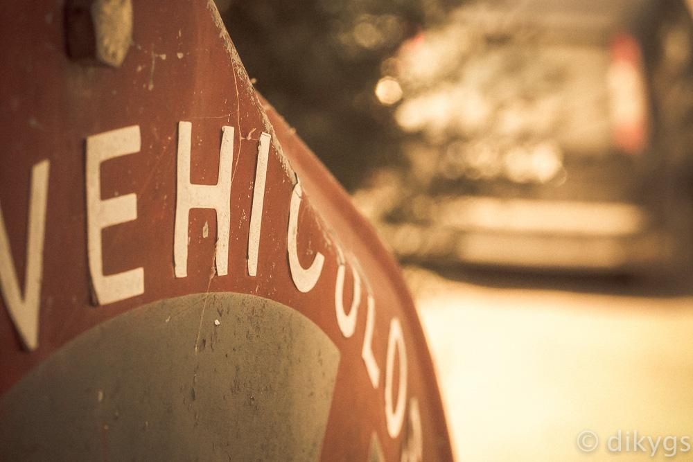Cartel antiguo de Vehículos