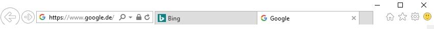Registerkarten sind für den Internet Explorer 11 kein Problem.