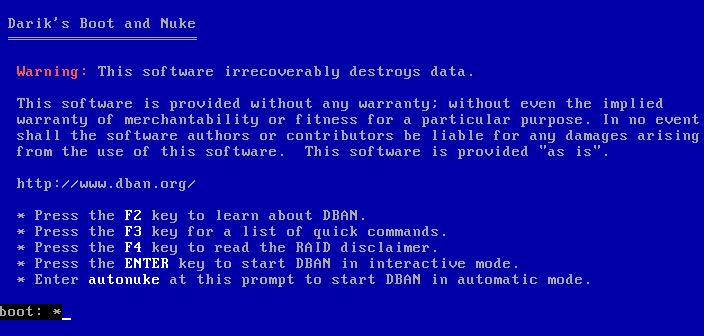 menu narzędzia dariks boot and nuke