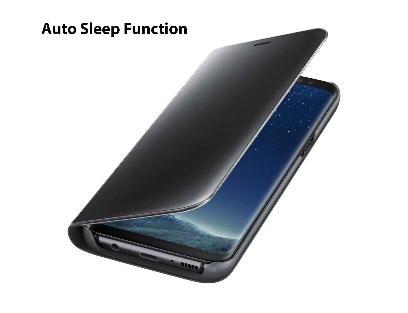 thumbnail 16 - For-Samsung-Galaxy-S9-S10-Plus-Smart-View-Mirror-Leather-Flip-Stand-Case-Cover