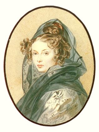 Sokolov Retrato A Muravieva, acuarela