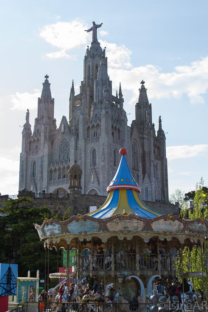 Basílica y Carrousel en el Tibidabo