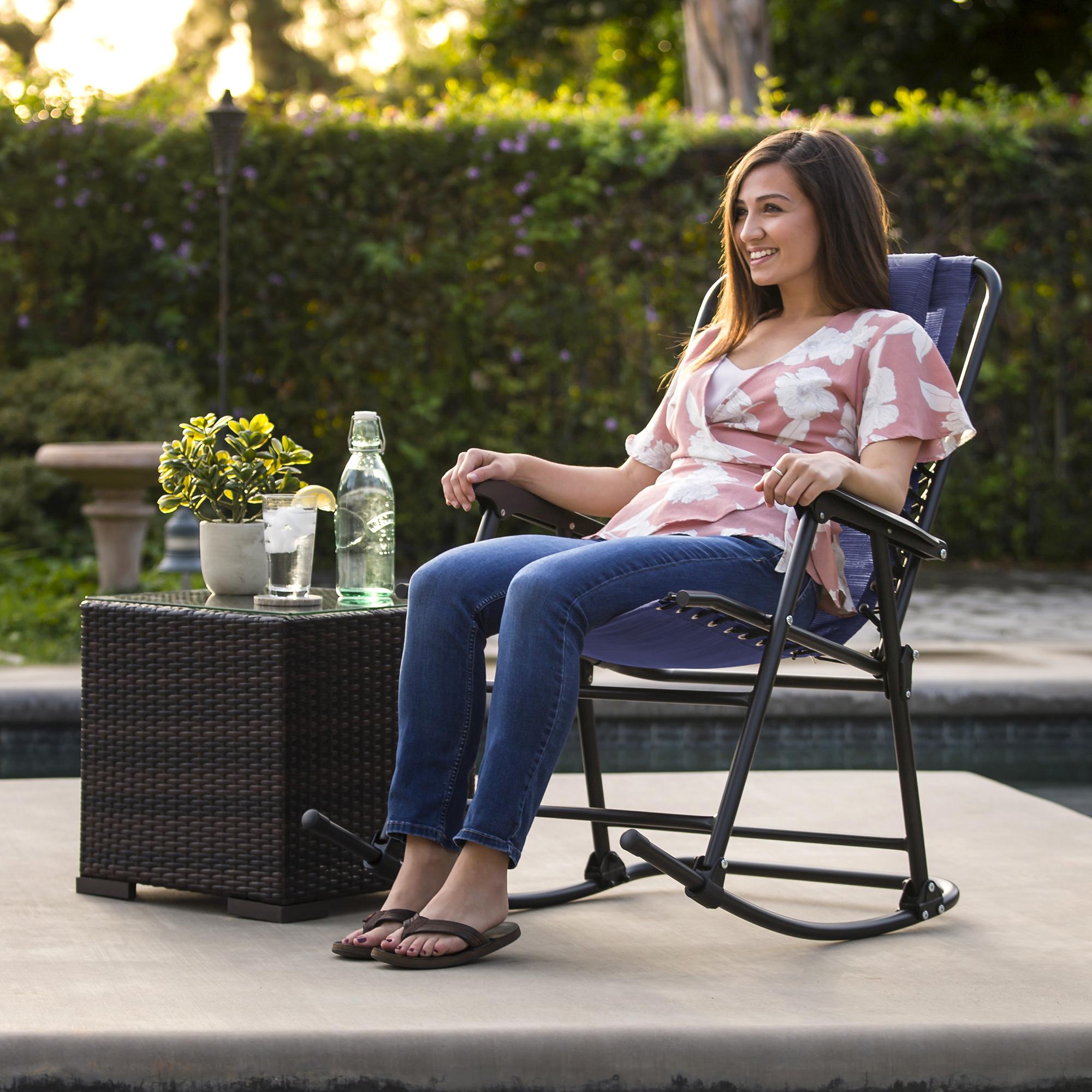 BCP-Foldable-Zero-Gravity-Patio-Rocking-Lounge-Chair thumbnail 23