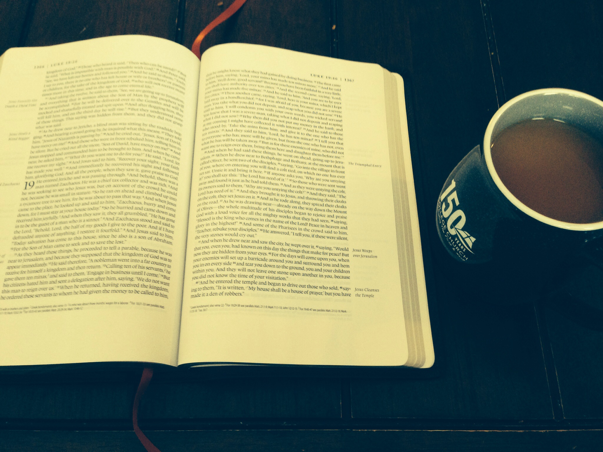 The Bible and a cup of tea