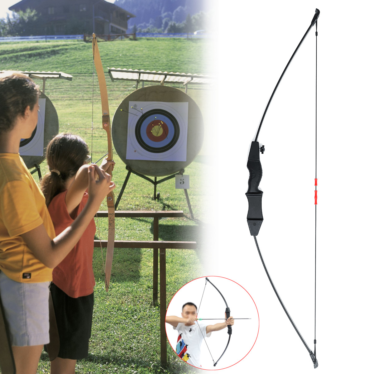 15lb Archery Bow Double Arrow