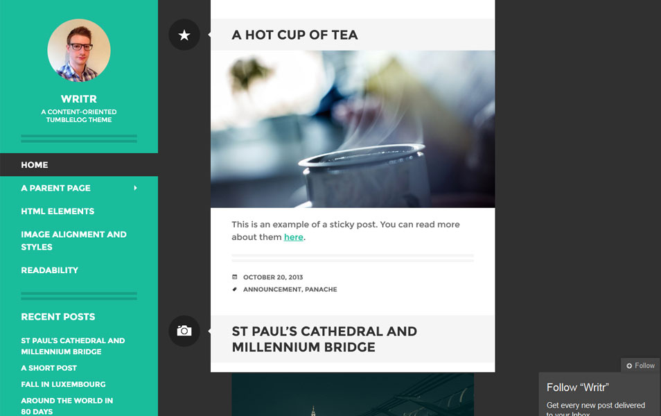 Writr - free wordpress theme