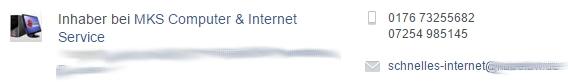 Durch ein öffentliches Profil, z. B. bei Facebook, steigt die Wahrscheinlichkeit für SPAM