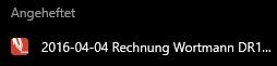 Für PDF verwende ich außerdem das Programm PDF Annotator und kann dort Dateien anpinnen
