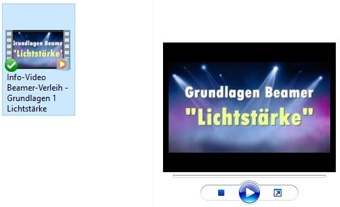 Für Video-Dateien gibt es eine Vorschau, die nach der Programm-Änderung ggf. verschwunden sein könnte.