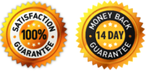 100% Satisfaction 14 days Money Back Guarantee