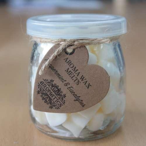 soy wax jar melts - peppermint & eucalyptus