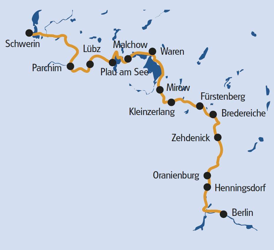 Radtour Deutschland: Mecklenburg