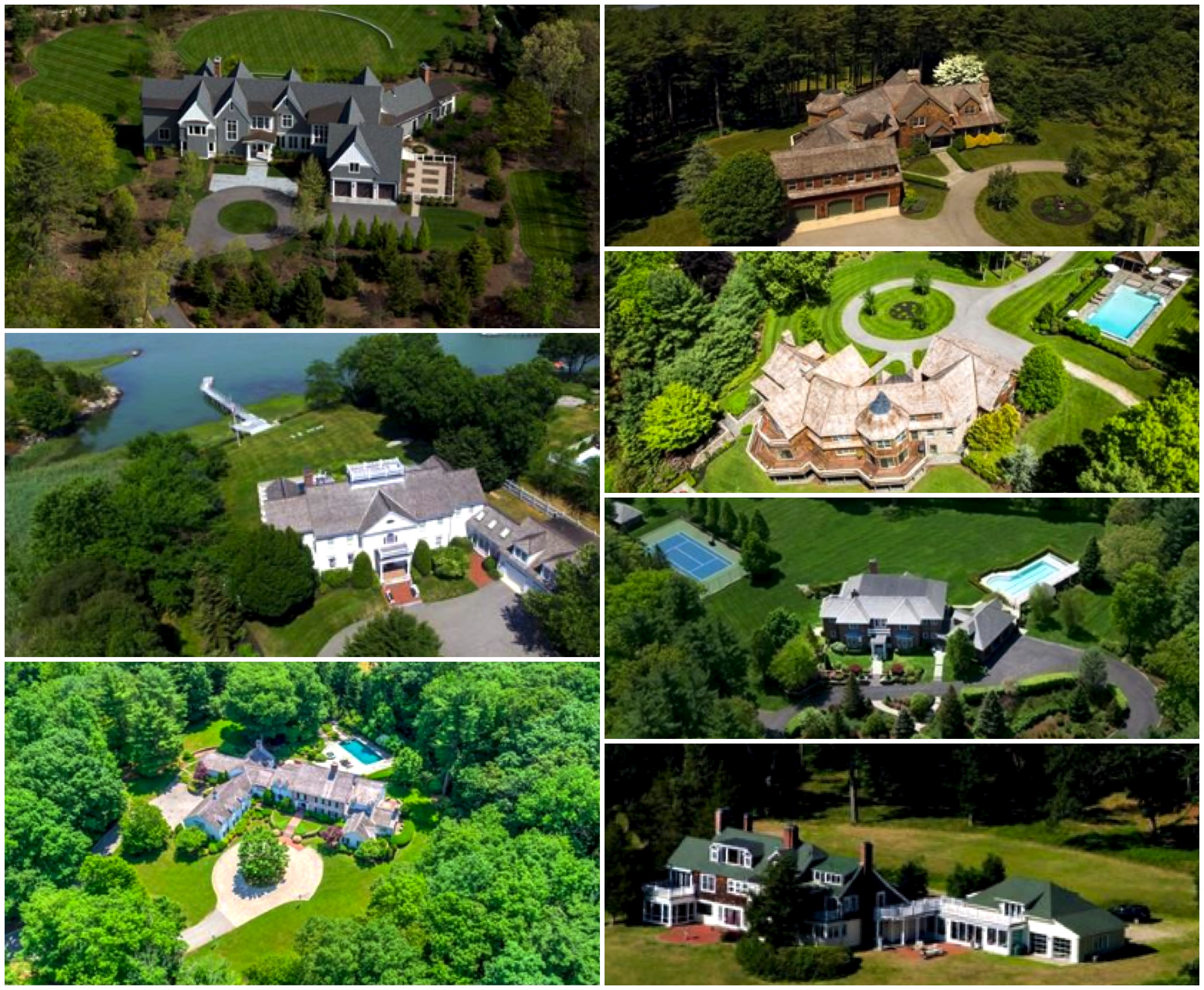 Collage of Homes From Above