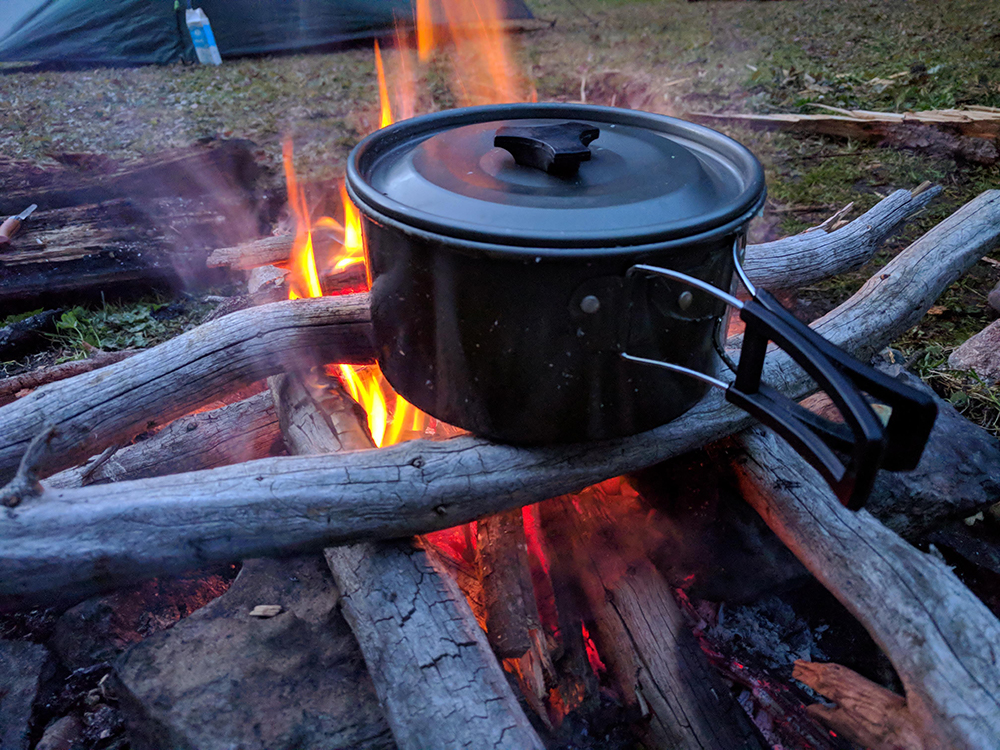 koken op vuur