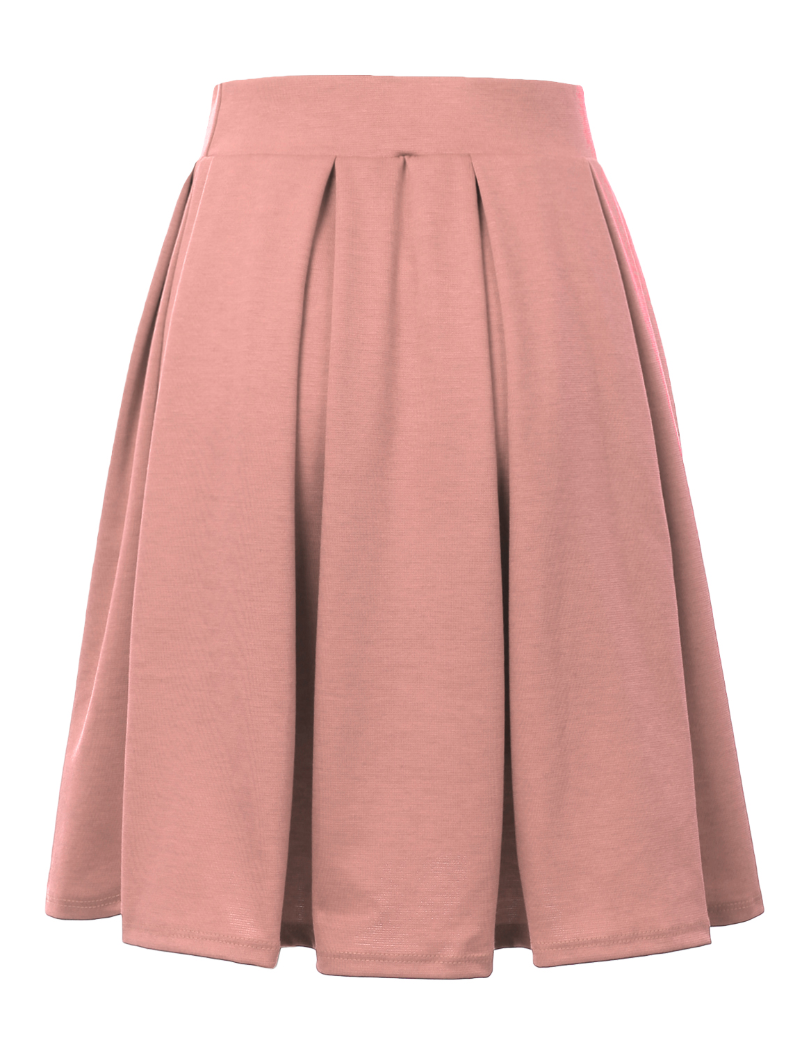 Doublju-Elastic-Waist-Flare-Pleated-Skater-Midi-Skirt-for-Women-with-Plus-Size thumbnail 12