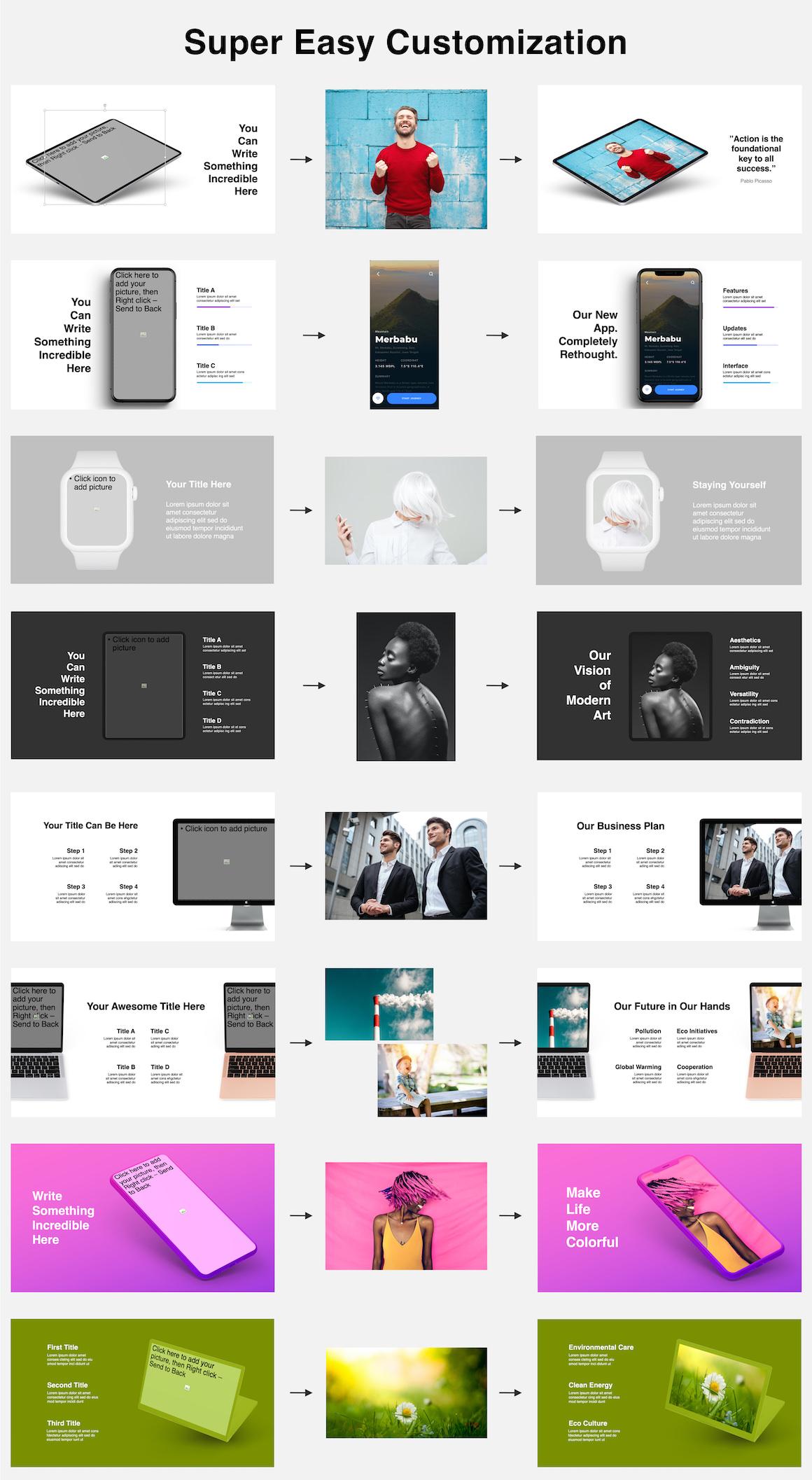 Huge Infographics Bundle! Lifetime Updates! PowerPoint, Photoshop, Illustrator. - 49