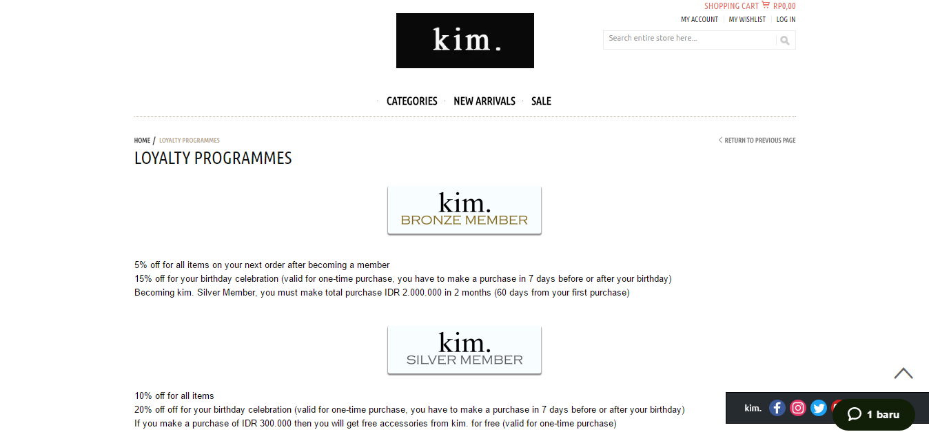 kim official loyalty program