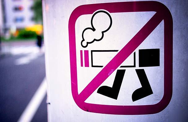 niestandardowy znak przekreślonego papierosa bhp