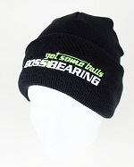 Boss Bearing Embroidered Get Some Balls Black Knit Hat