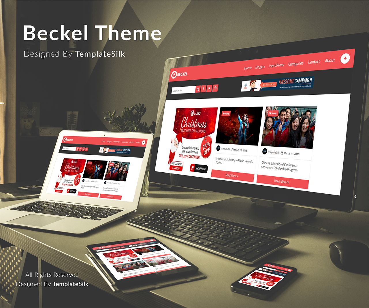 Beckel Blogger Theme