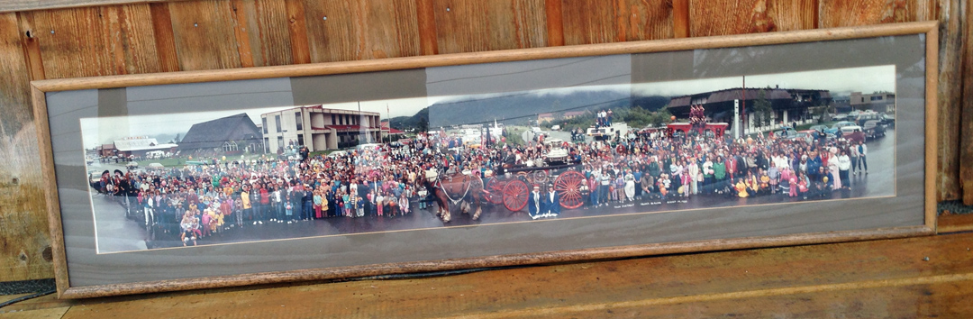 "For sale: Original Huge Panoramic ""Town               Portrait"" photograph of Valdez, 1985."