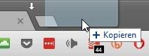 Dateien und Webseiten-Links lassen sich im Google Chrome öffnen, indem man sie neben bereits geöffnete Registerkarten zieht.
