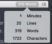 Typora word count
