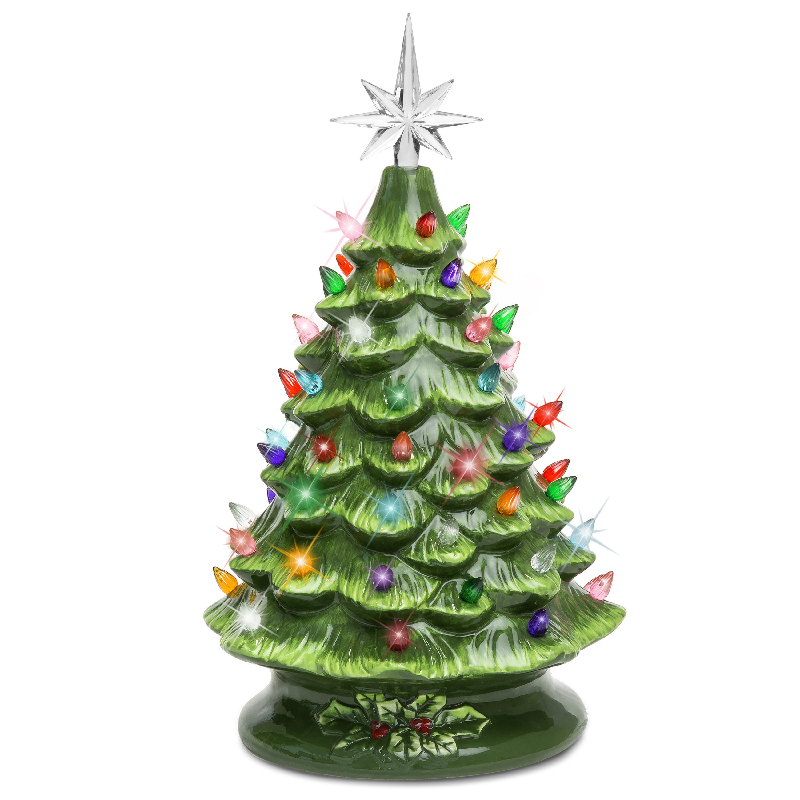 BCP 15in Pre-Lit Hand-Painted Ceramic Tabletop Christmas ...