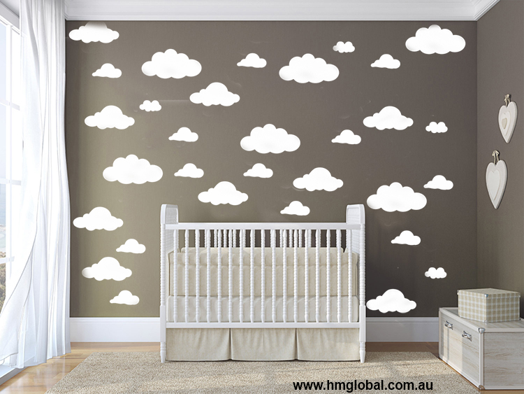 cloud kids nursery wall sticker vinyl decal HM wall sticker