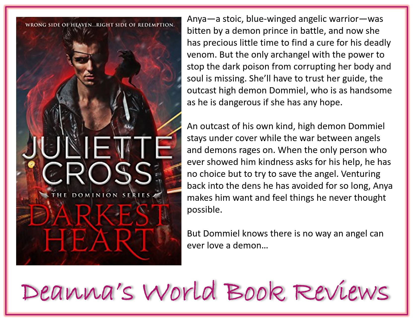 Darkest Heart by Juliette Cross blurb