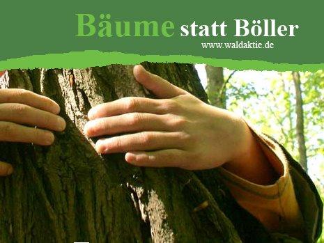 Bäume statt Böller Bäume statt Böller