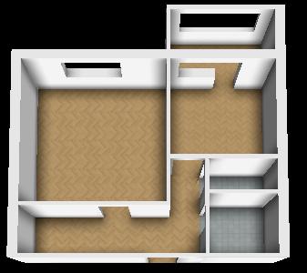 План квартиры в 3D с текcтурой пола + AO