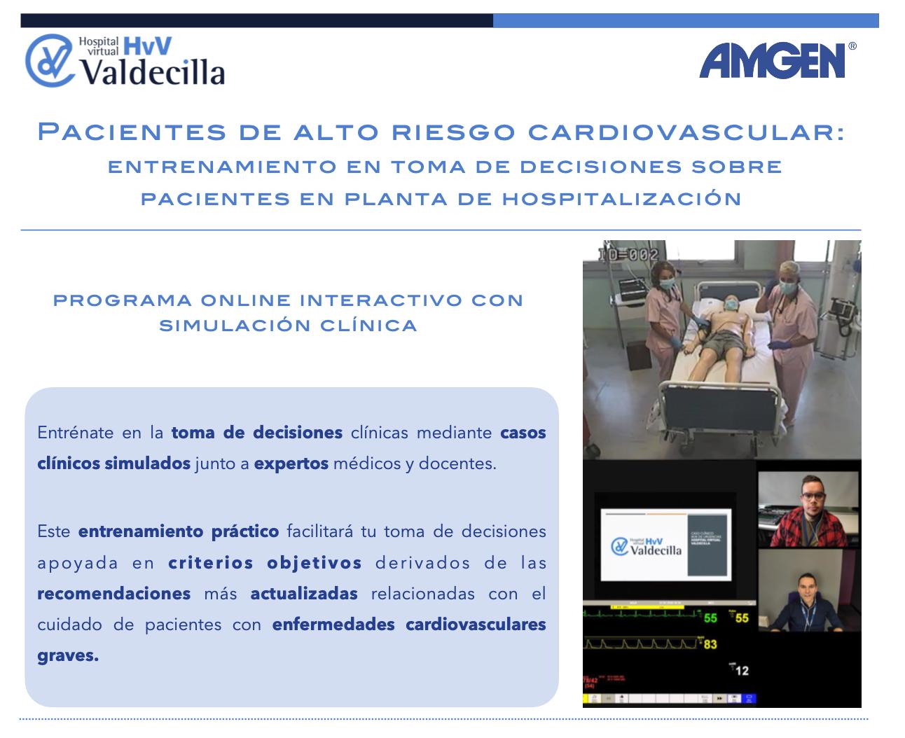 Entrenamiento en la toma de decisiones sobre pacientes de alto/muy alto riesgo cardiovascular en planta de hospitalización