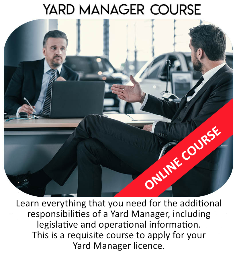 Yard Manager Dealer Course
