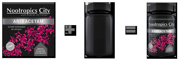 Bottle Nutrition Supplement Packaging Mock-Up - 1