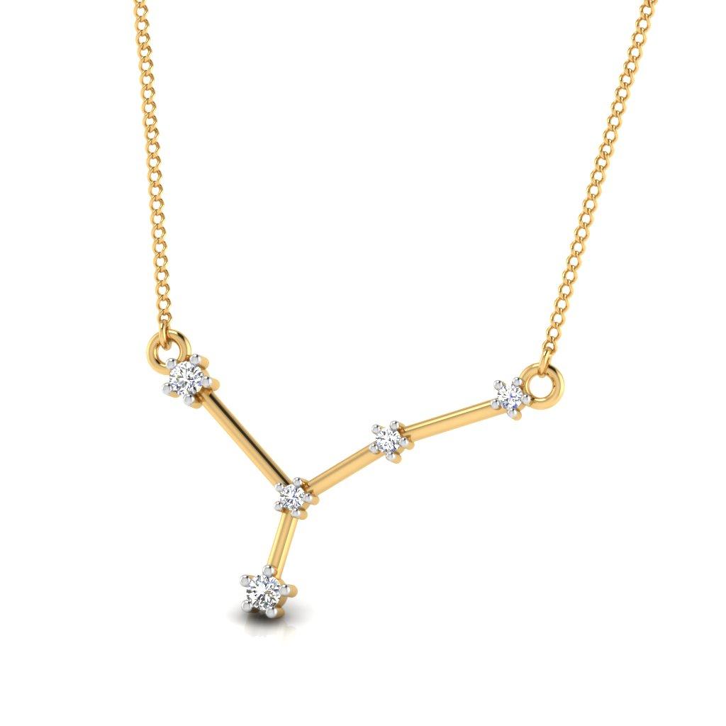 The Cancer Zodiac Diamond Pendant