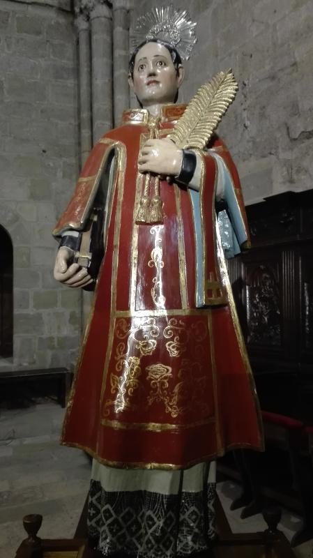 La imagen de San Vicente que se venera en la parroquia desde el siglo XIX
