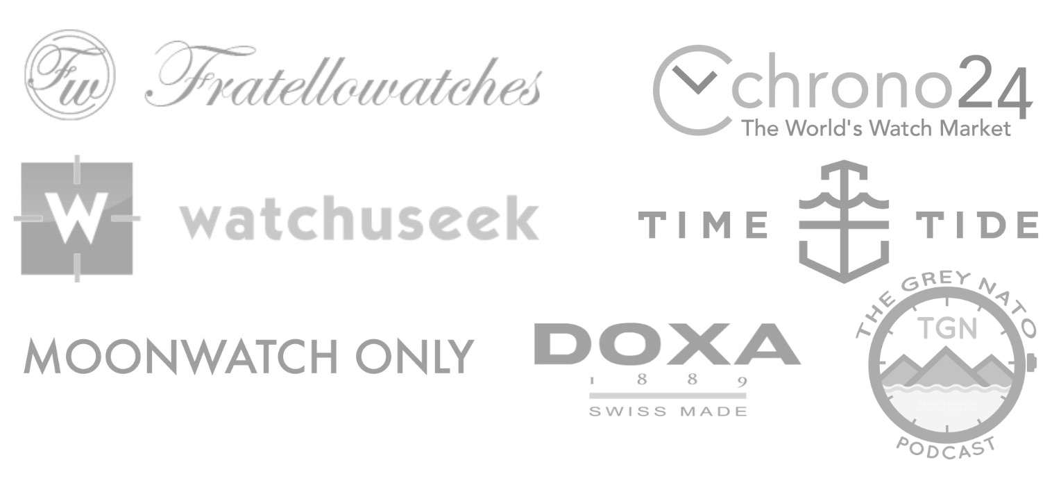 Watches and Pencils featured on logos