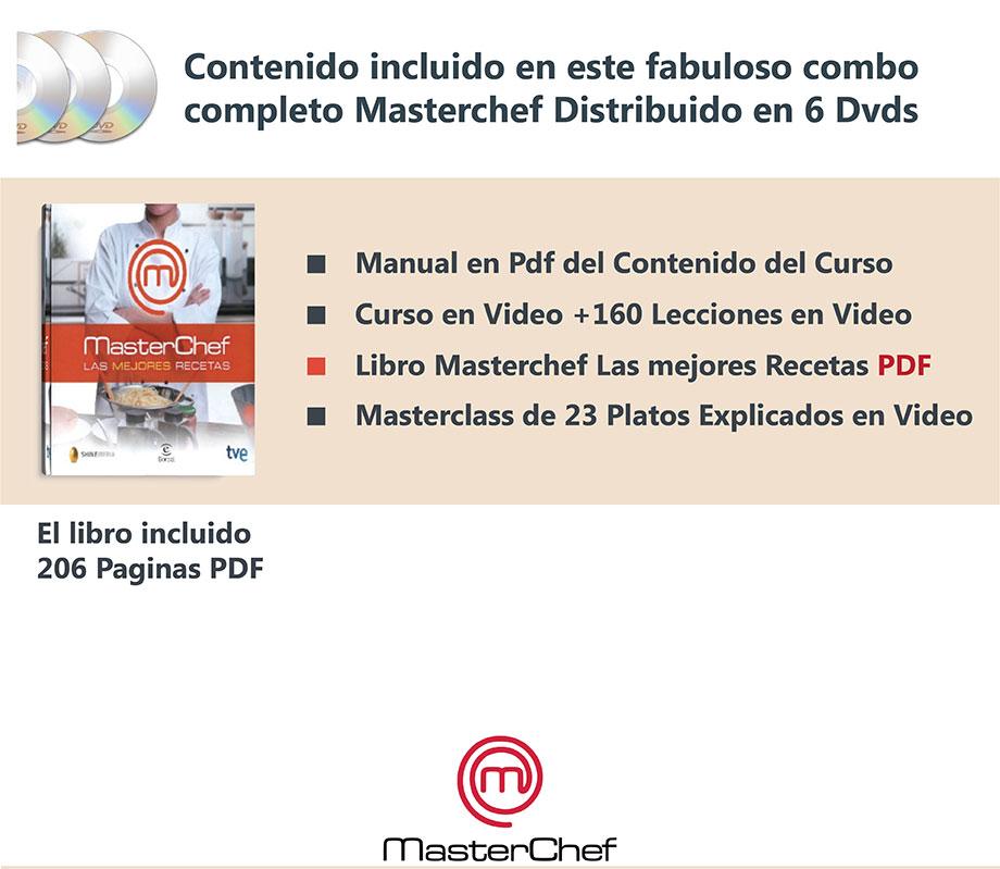 Curso en 5 dvd cocina masterchef libro pdf clases chef for Curso de cocina pdf