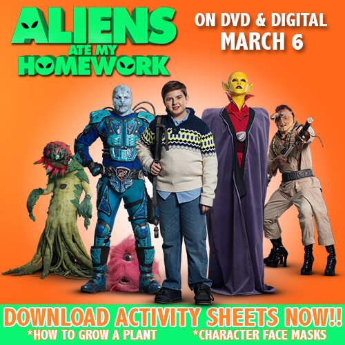 Aliens Ate My Homework Clips & Activity Sheets