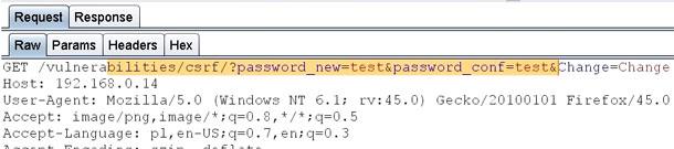 Połączenie luki XSS z CSRF (cross-site request forgery).