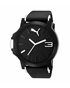 MyCross Mens Black Dial Analog Watch - White