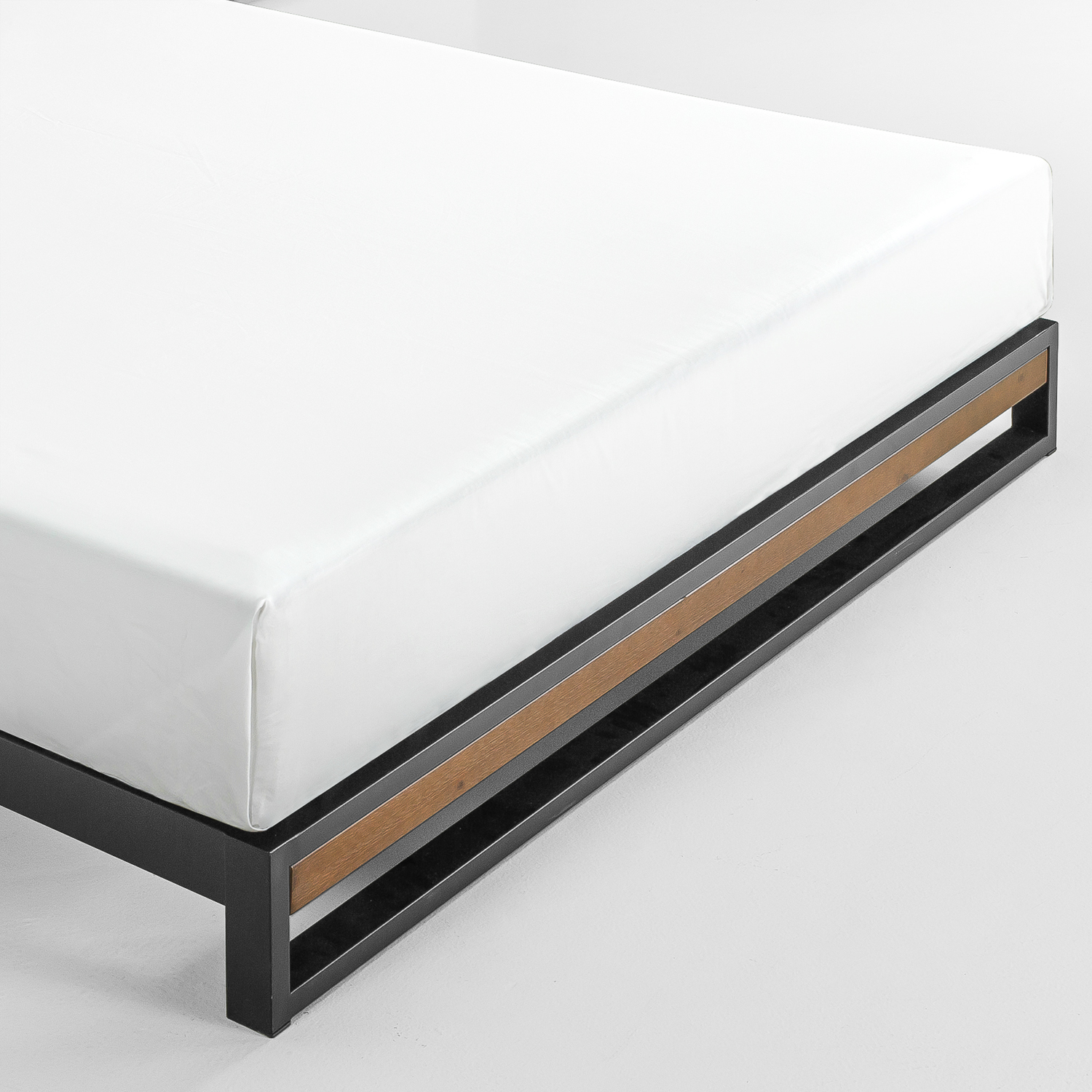 Zinus-Ironline-Metal-Wood-Bed-Frame-Queen-Single-Double-King-Base-Mattress-Pine thumbnail 8