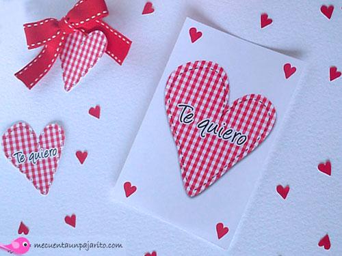 Felicitación de San Valentín, etiquetas