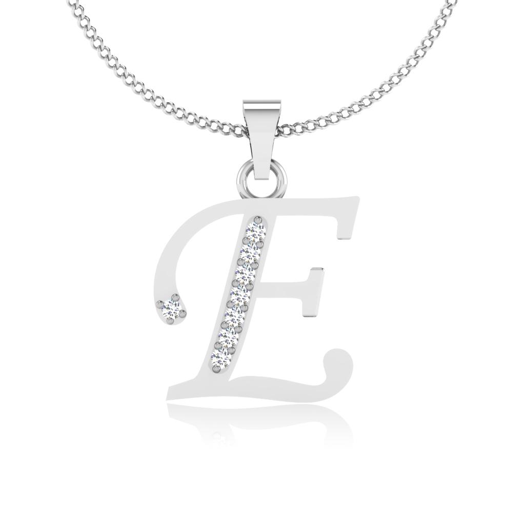 The Classy E Diamond Pendant