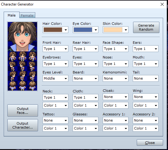Karakter Generator