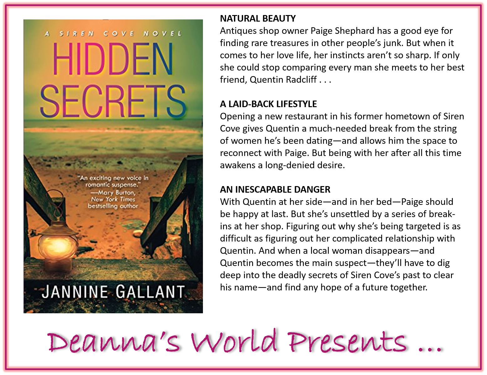 Hidden Secrets by Jannine Gallant blurb