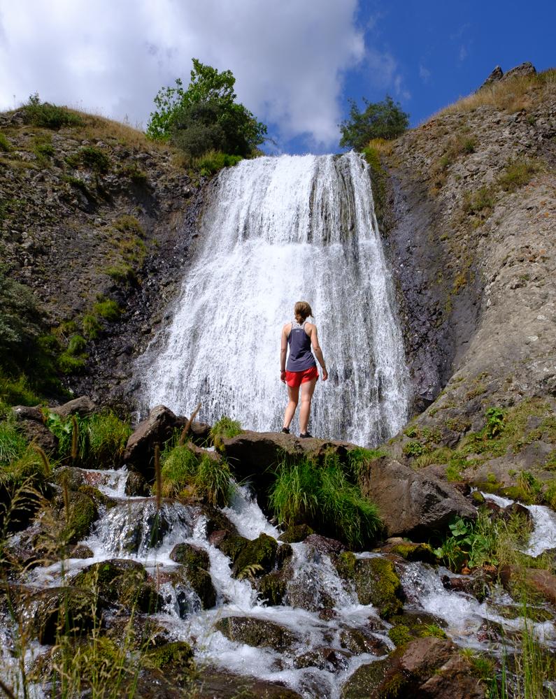 We hadden de Ashra watervallen helemaal voor onszelf